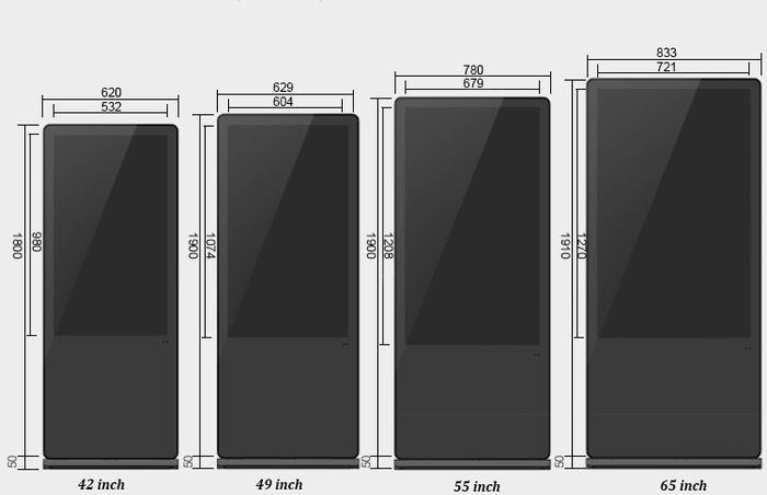 Máy quảng cáo dạng đứng cảm ứng HỒNG NGOẠI 55inch