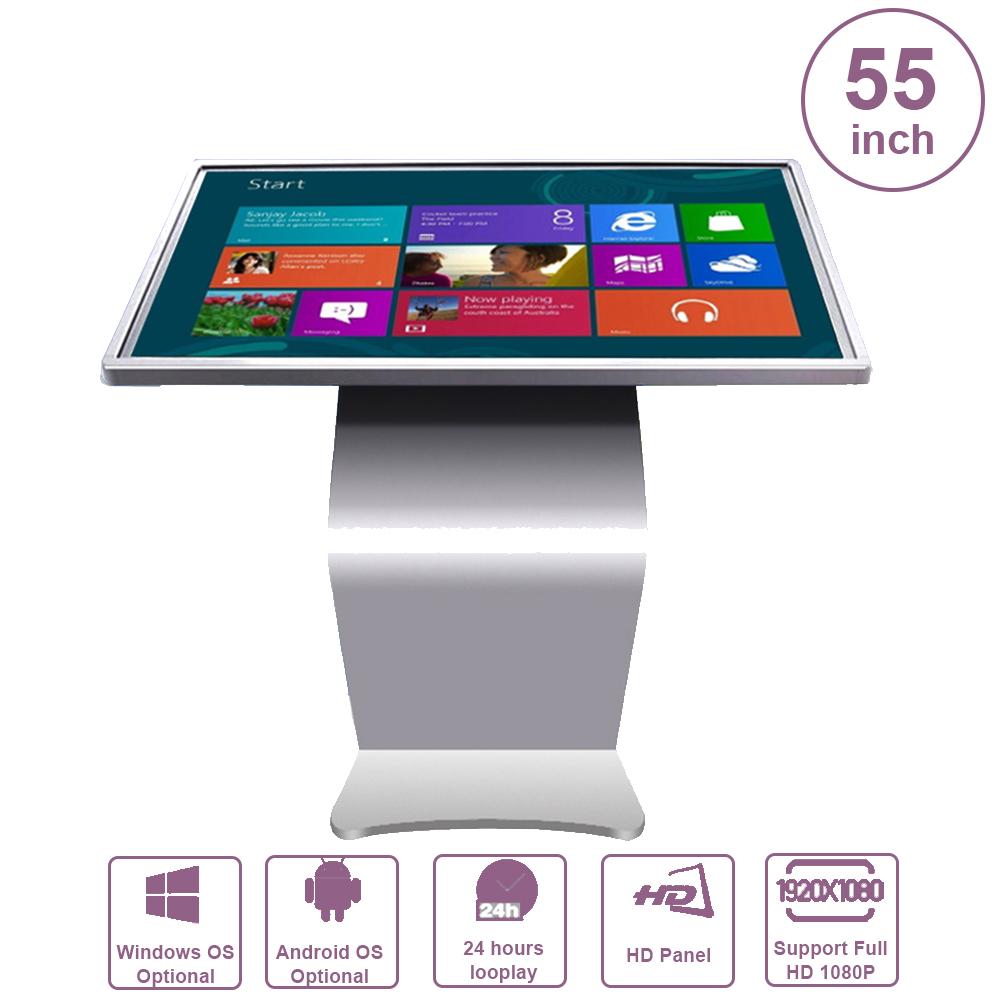 Máy quảng cáo chân quỳ cảm ứng HỒNG NGOẠI 55inch